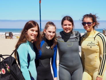 We love camp, we love wetsuits!